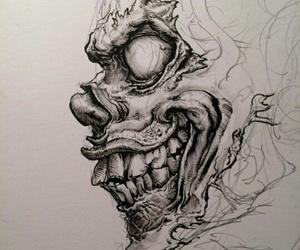 black, clown, and creepy image