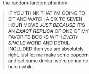 book, tumblr, and popcorn image