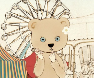 anime, bear, and carnival image
