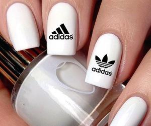 nails, adidas, and white image