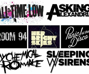all time low, my chemical romance, and panic! at the disco image