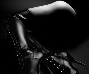 boots, female domination, and sexy image