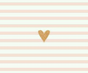 gold, heart, and pink image