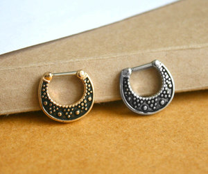 etsy, nose piercing, and nose ring image