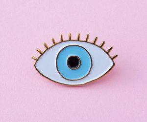 pink, eye, and aesthetic image