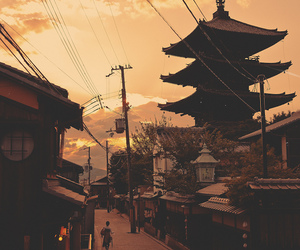 japan, sunset, and street image