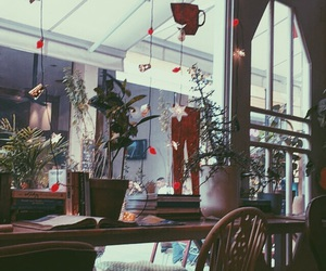 books, cafe, and cosy image