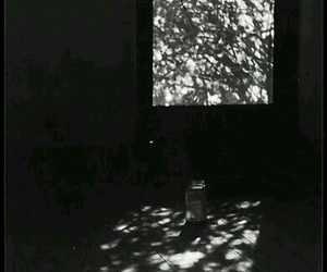 beautiful, black and white, and Darkness image