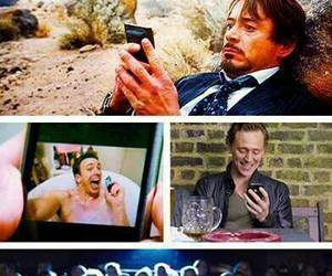 chris evans, thor, and funny image