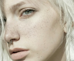 girl, piercing, and pale image