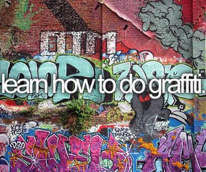 before i die, graffiti, and learn image
