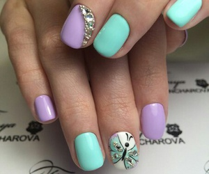 nails, ♥, and by khristina bro♡ image