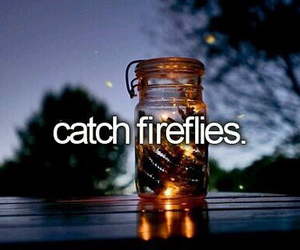 bucket list, fireflies, and food image