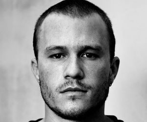 heath ledger, black and white, and boy image