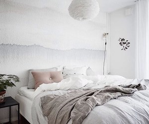 bed, minimalistic, and bedroom image
