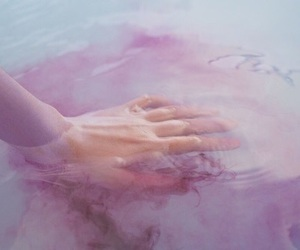 grunge, water, and hand image