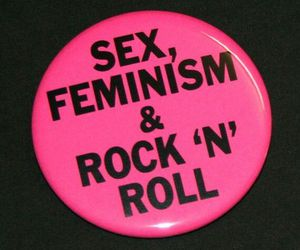 feminism, buttons, and feminist image