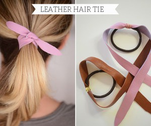 diy, hair, and leather image