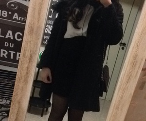 black&white, skirt, and outfit image