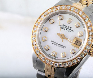 rolex, watch, and diamond image