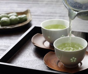 green tea, japanese food, and sweet image