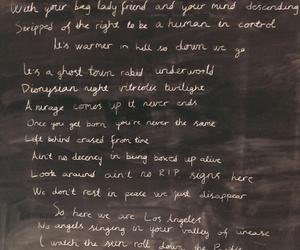 los angeles, Lyrics, and rock image