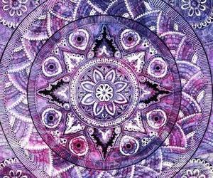 purple, mandala, and wallpaper image