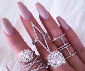 accessories, mauve, and nails image