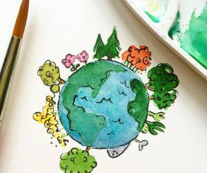 drawing, earth, and earth day image