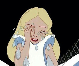 cry, alice, and alice in wonderland image