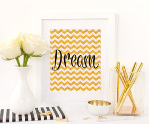 etsy, gold glitter, and wall art image