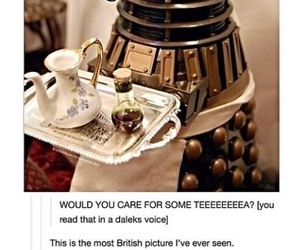doctor who, Dalek, and british image