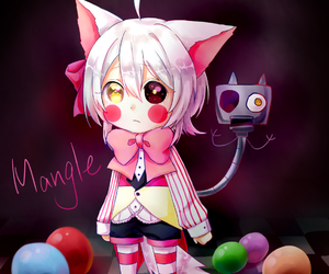 mangle, toy foxy, and five nights at freddy's image