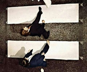 the beatles, beatles, and black and white image