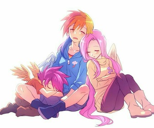 my little pony, rainbow dash, and fluttershy image