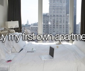 bucket list, apartment, and buy image