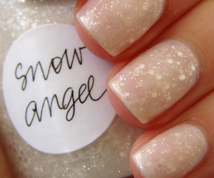 nails, glitter, and snow angel image