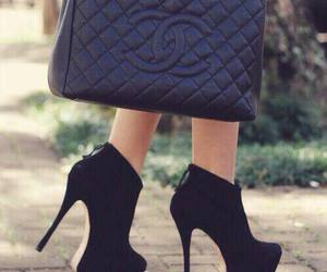shoes, black, and chanel image