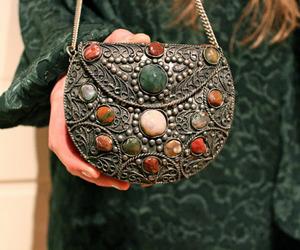 bag, green, and stone image