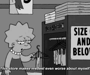 the simpsons, quote, and black and white image