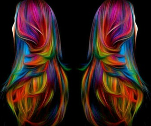 colores, colorful hair, and cabello image