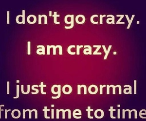 crazy, normal, and quotes image