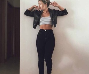 style, outfit, and black image