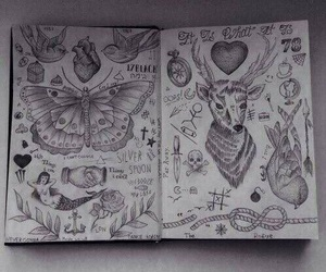 one direction, art, and tattoo image