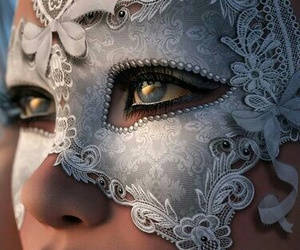 mask, lace, and masquerade image