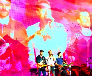 belive, coldplay, and concert image