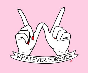 forever, hands, and pink image