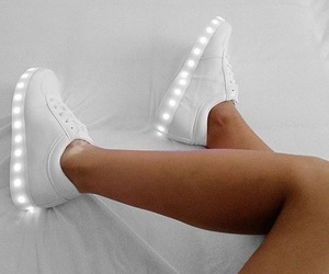 shoes, lights, and white image