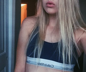 blonde, bralette, and calvin image