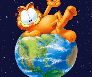cartoon, funny, and garfield image